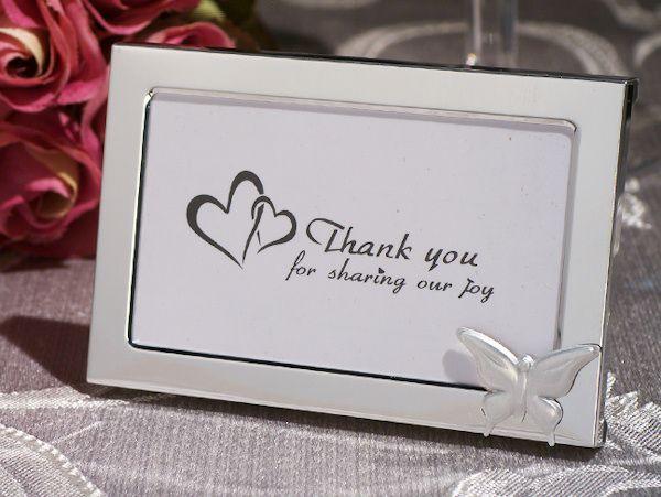 Graceful Butterfly Photo Frame Wedding Favors | Metal photo frames ...