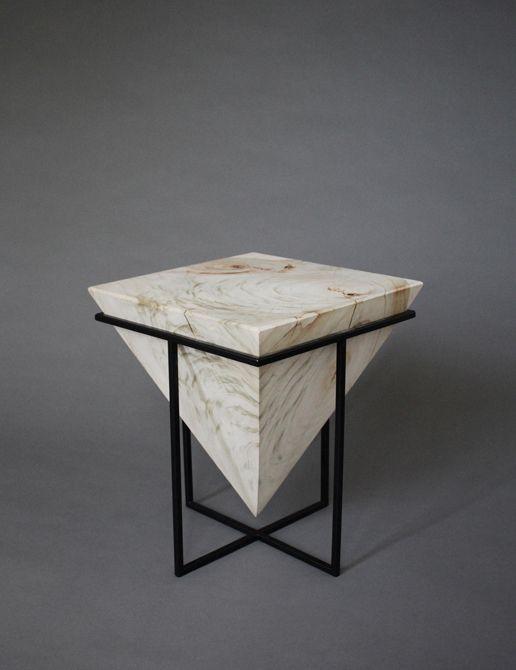 Low Gravity Square Table Local Design Raw Wood Furniture Diy