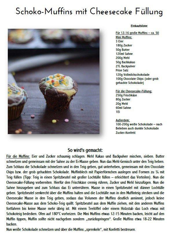 Schoko Cheesecake Muffins Rezept