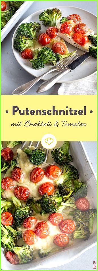 Low-Carb-Putenschnitzel mit Brokkoli und Kirschtomaten Low-Carb-Putenschnitzel mit Brokkoli und Kirs...