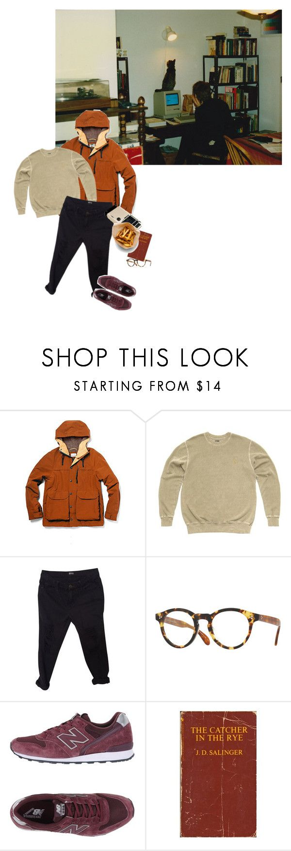 """tomboy"" by lobbyboy95 ❤ liked on Polyvore featuring Steven Alan, October's Very Own, Urban Outfitters, Oliver Peoples and New Balance"