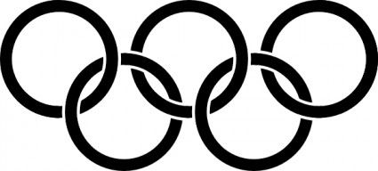 olympic rings black clip art bookmarks pinterest clip art rh pinterest com  olympic rings clipart free
