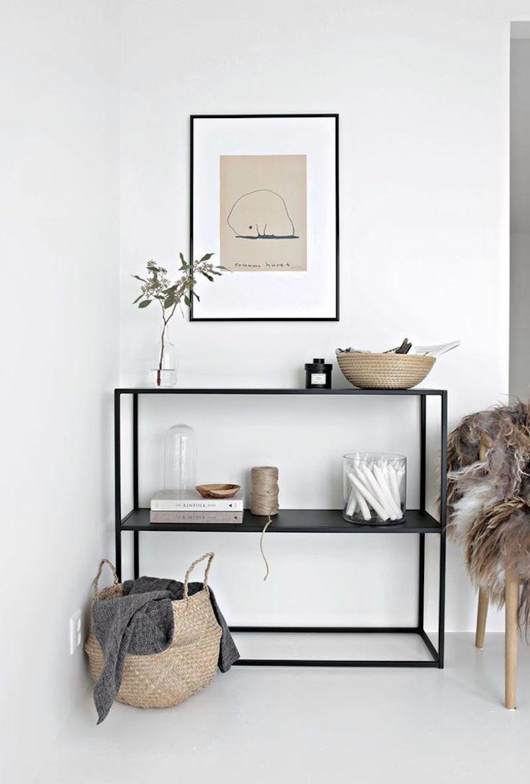 Naturmaterialien sind sehr beliebt im skandinavischen Stil ...