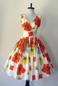 Cheerful fun summer dress - vintage looking.