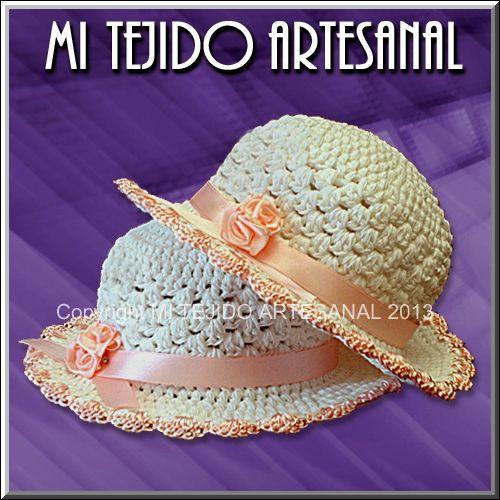 Capelinas para niñas tejidas al crochet. | Sombreros, capelinas y ...