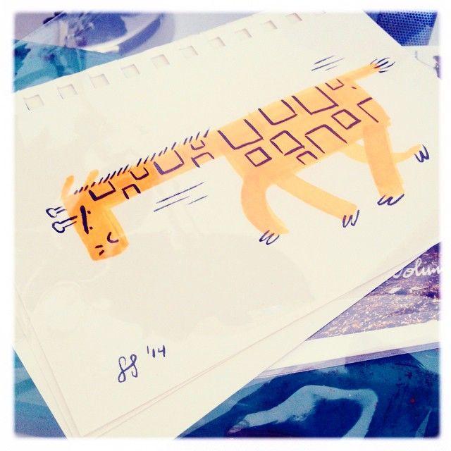 Busting through doodles for #feedtheanimalspdx #ftapdx #doodles #oct2nd #firstthursday #gallery #animals #doodles #ink