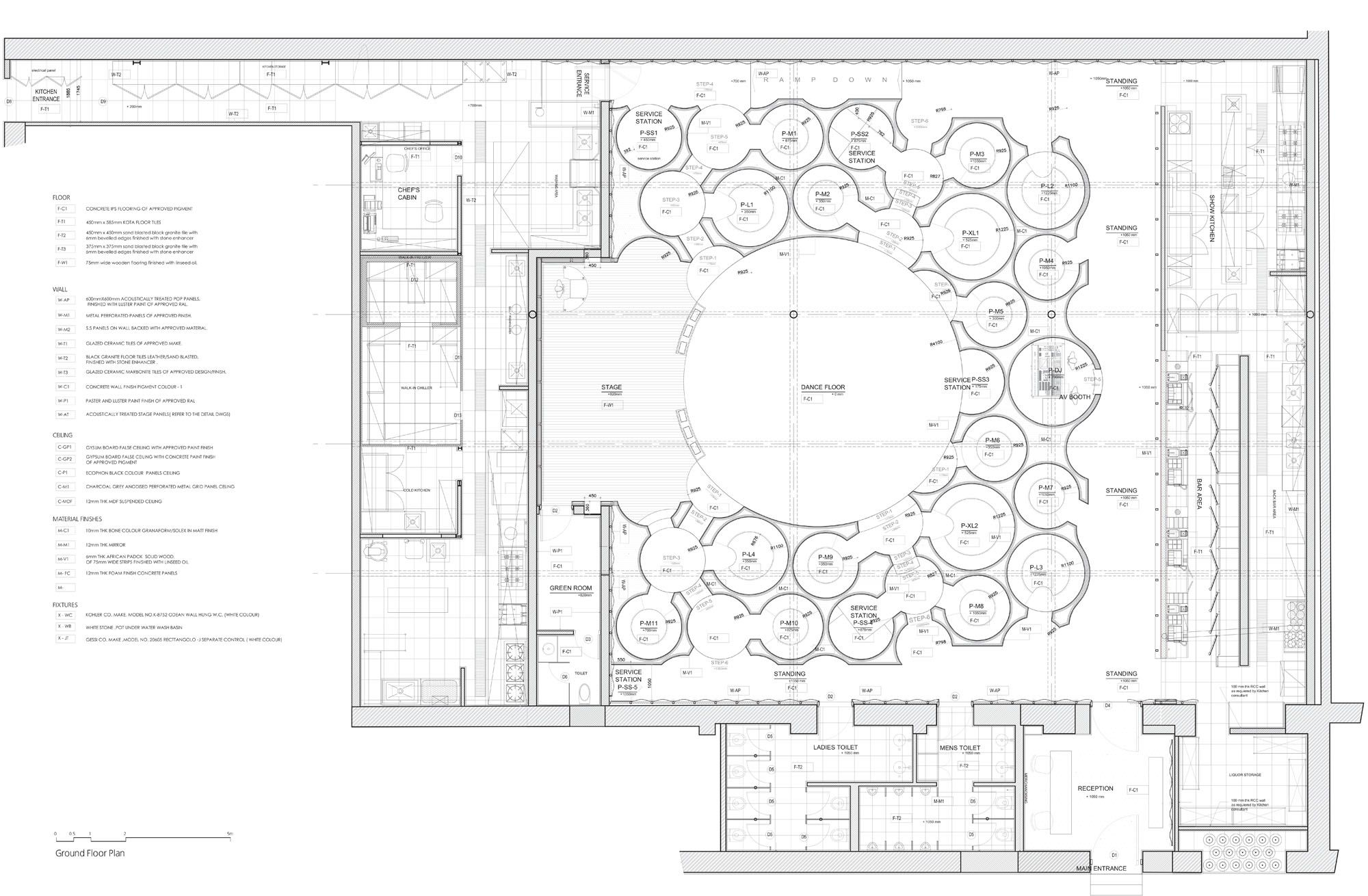 Serie Architects - Blue Frog Lounge Plan | Interiors Here There ...