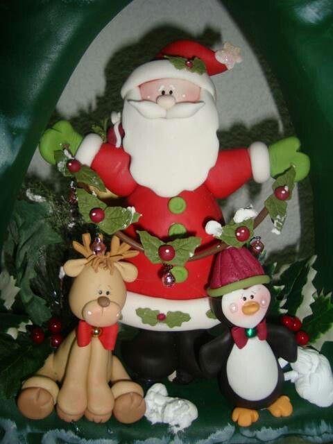Porcelana Fría Porcelana De Navidad Porcelana Fría Navidad Navidad De Arcilla Polimérica
