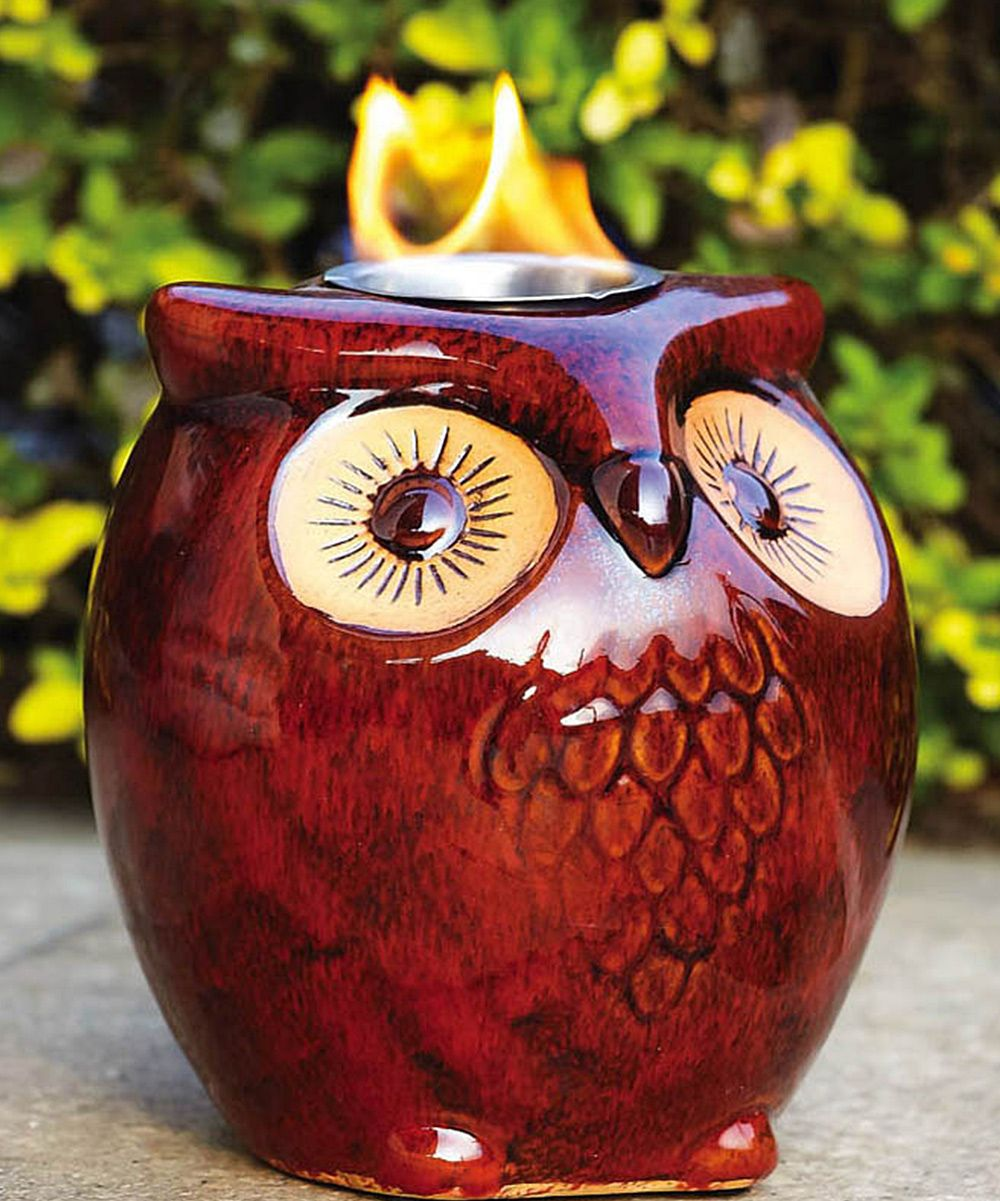 Owl Candle Holder I Would Li Ve Thisas A Wax Warmer
