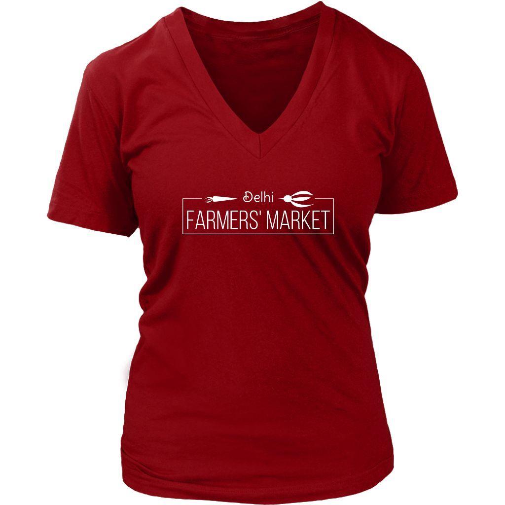 Delhi Farmer's Market - Women's V-neck Tee