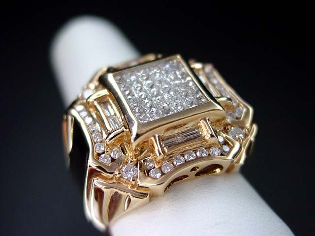 14K Pink/Rose gold Men's Diamond Ring | Men's Diamond ...