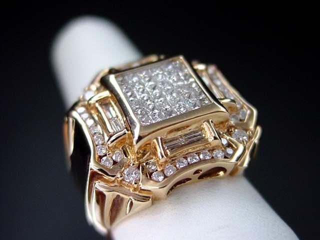 14K Pink/Rose gold Men's Diamond Ring