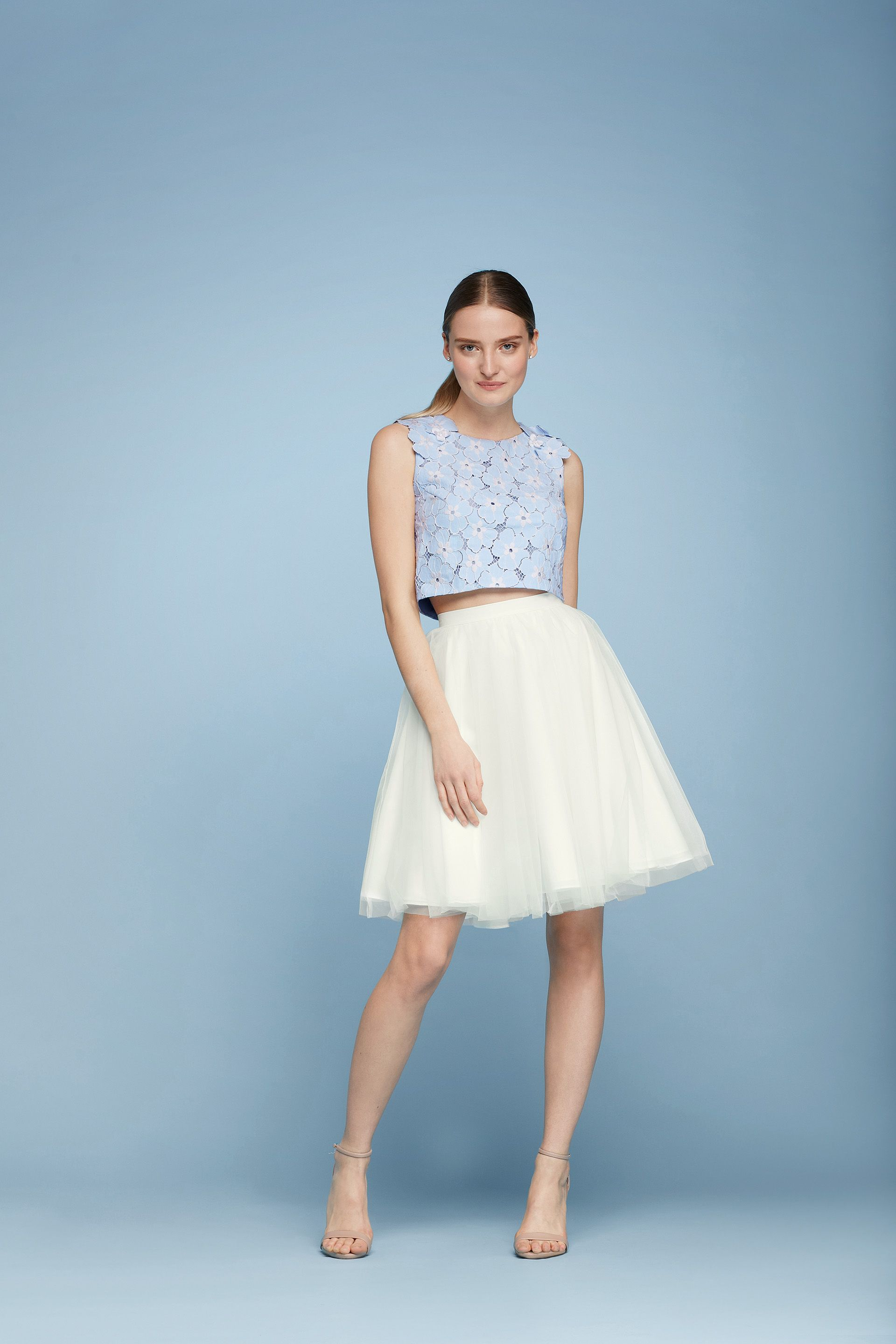 Cheers Cynthia Rowley Two Piece Tulle and Lace Short Dress ...