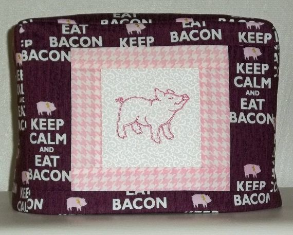 Bacon Toaster Cover Two Slice Toaster Cover by PatsysPatchwork