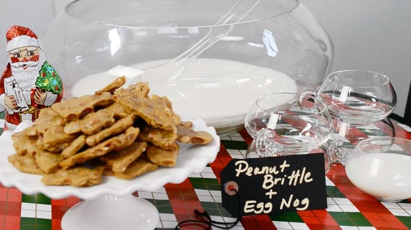 Holiday Dessert Bar with Sees Candies : Alexandra Hedin || eggnog is perfect with See's Candies peanut brittle