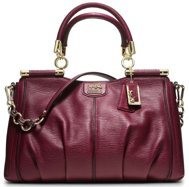 1786520059 Coach Burgundy Bag -- love the style but wish it wasn't leather Coach