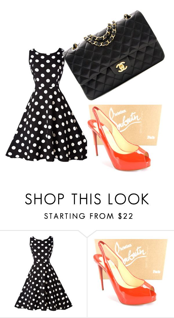 """""""Untitled #129"""" by missmoo13 ❤ liked on Polyvore featuring Christian Louboutin and Chanel"""