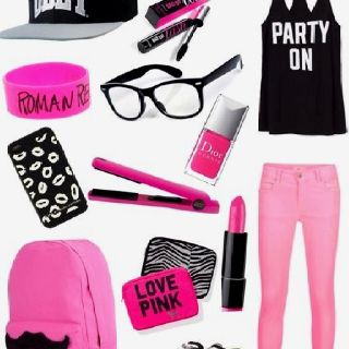 Black and pretty pink!!