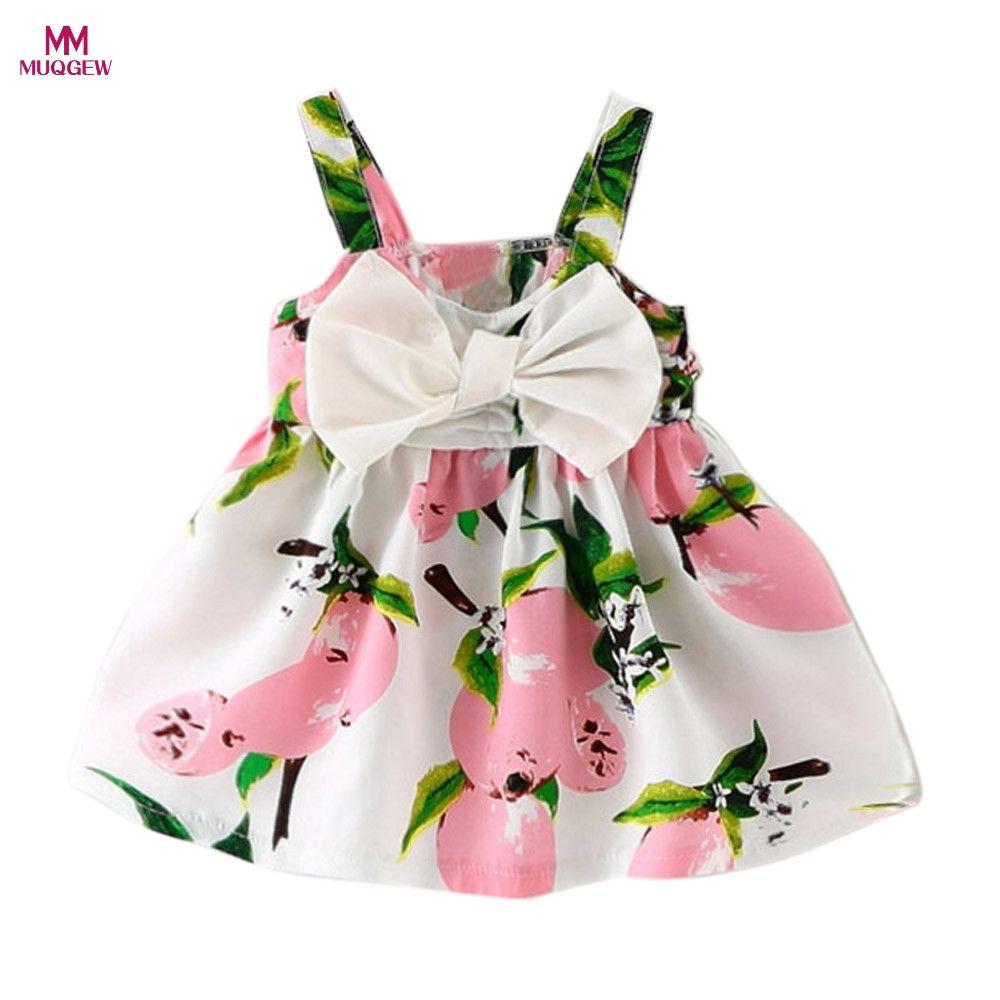 2c9330b75873 Fashion Cute Baby Kid Girls Sleeveless One Piece Dress Bowknot ...