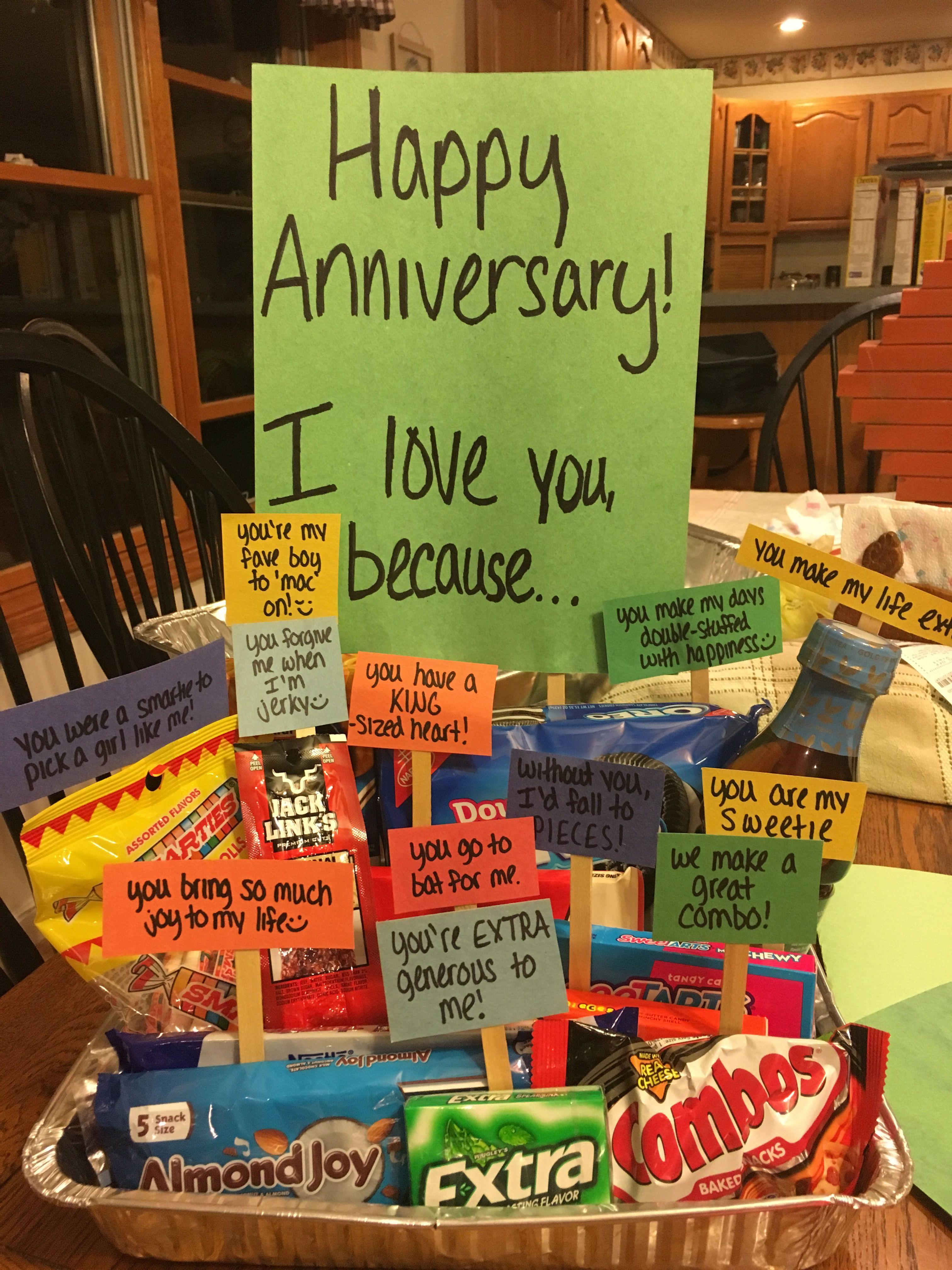 Happy anniversary cute gifts Boyfriend anniversary gifts