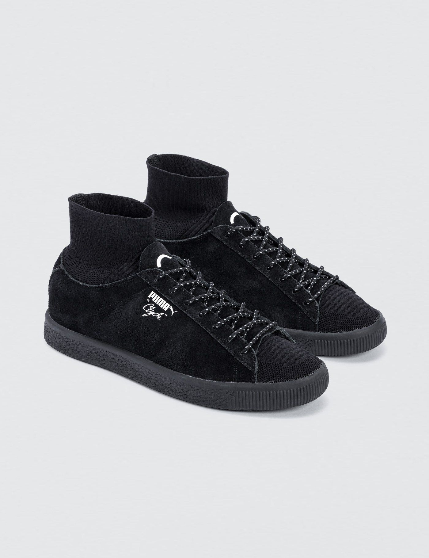 brand new 7ecc7 09844 Puma BLACKRAINBOW x Puma Clyde Socks | HBX. | Hudson Knit ...