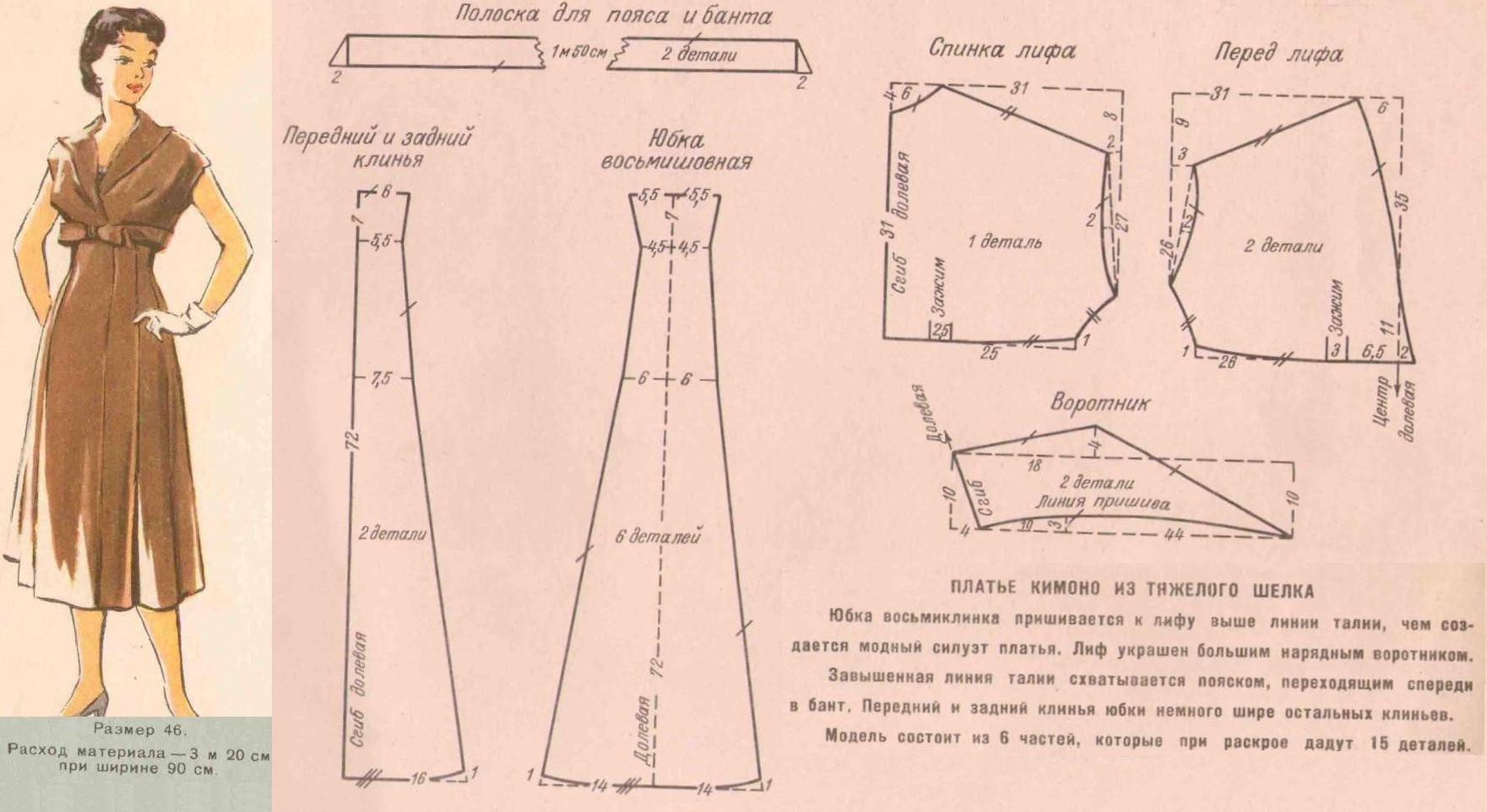 Pin von Pusha auf Выкройки 50-х годов. | Pinterest | Muster und Nähen