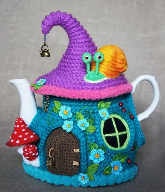 Кукляндия: Грелка на чайник «Сказочный домик». Часть 1 | Чайный ...