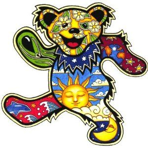 Free shipping Grateful Dead classic bears patch Grateful Dead Dancing Bear patch Dead Head Bears patch