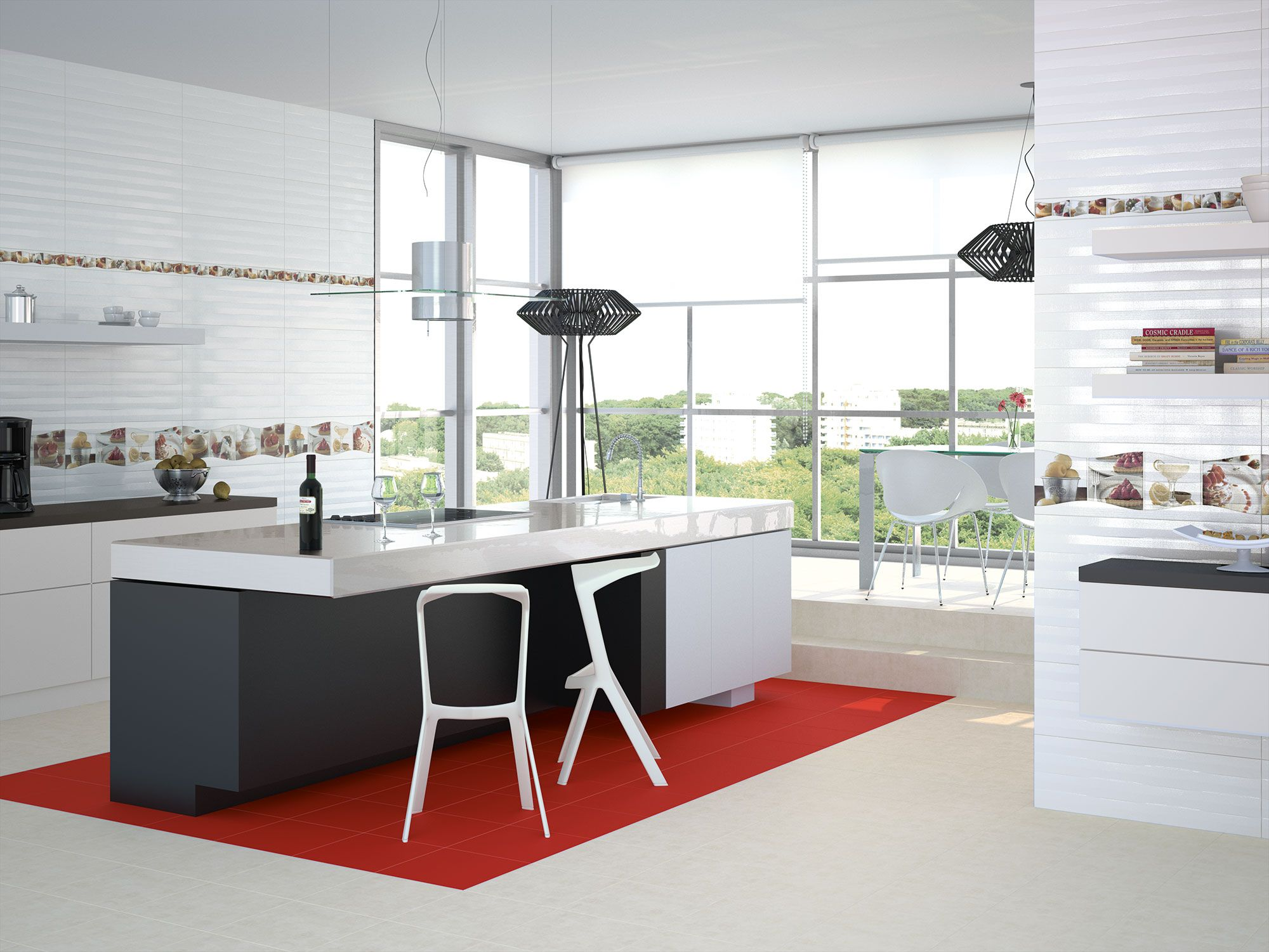 Cocina moderna azulejos fotos azulejos para cocinas - Azulejos de cocina modernos ...