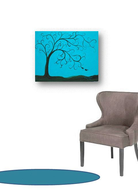 Thumbprint tree wedding Painting original Wedding Tree Guest Book