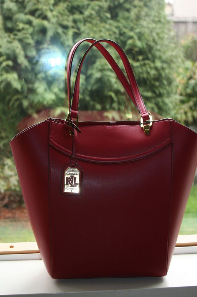 3a808a885a Ralph Lauren Lexington Fall Red Faux Leather Tote  RalphLauren   TotesShoppers