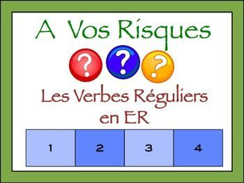 interactive french powerpoint writing activity with regular er verbs