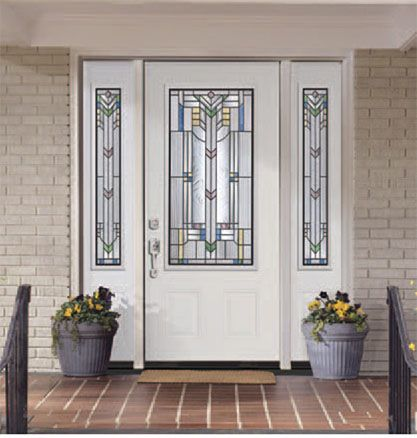 Front Door With Sidelights Steel Doors Entry Doors