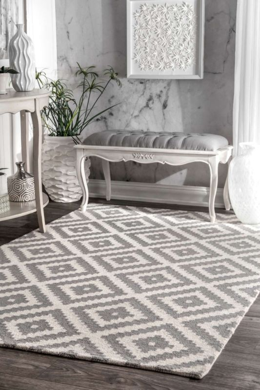 Details About Nuloom Hand Made Contemporary Geometric