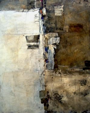 Joyce ( Kate ) Stratton Abstract Artist : Descend I 36 x 48