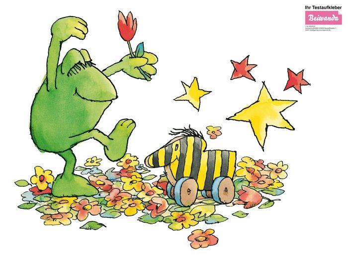 Wall sticker frog and tigerente flower dance cards pinterest - Wandtattoo janosch ...