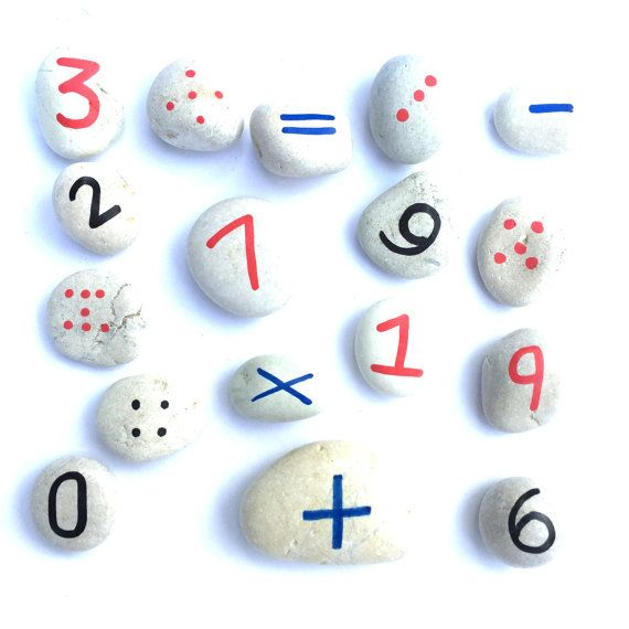 Numbers Rock!  After many requests and custom orders, we are now making these beautifully simple number/counting stones available to purchase.