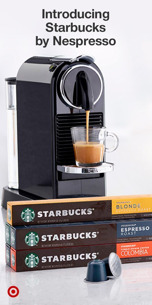 A delicious new way to enjoy rich, authentic shots of Starbucks espresso at home. Shop now at Target. Available for Nespresso Original Line Machines. #espressoathome A delicious new way to enjoy rich, authentic shots of Starbucks espresso at home. Shop now at Target. Available for Nespresso Original Line Machines. #espressoathome A delicious new way to enjoy rich, authentic shots of Starbucks espresso at home. Shop now at Target. Available for Nespresso Original Line Machines. #espressoathome A #espressoathome