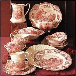 Dinnerware Sets & Johnson Brothers Old Britain Castles Pink Christmas Dinnerware Set ...