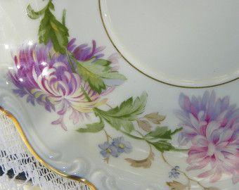 Vintage Rosenthal China Daphne Pattern Pompadour SLEB Lavender