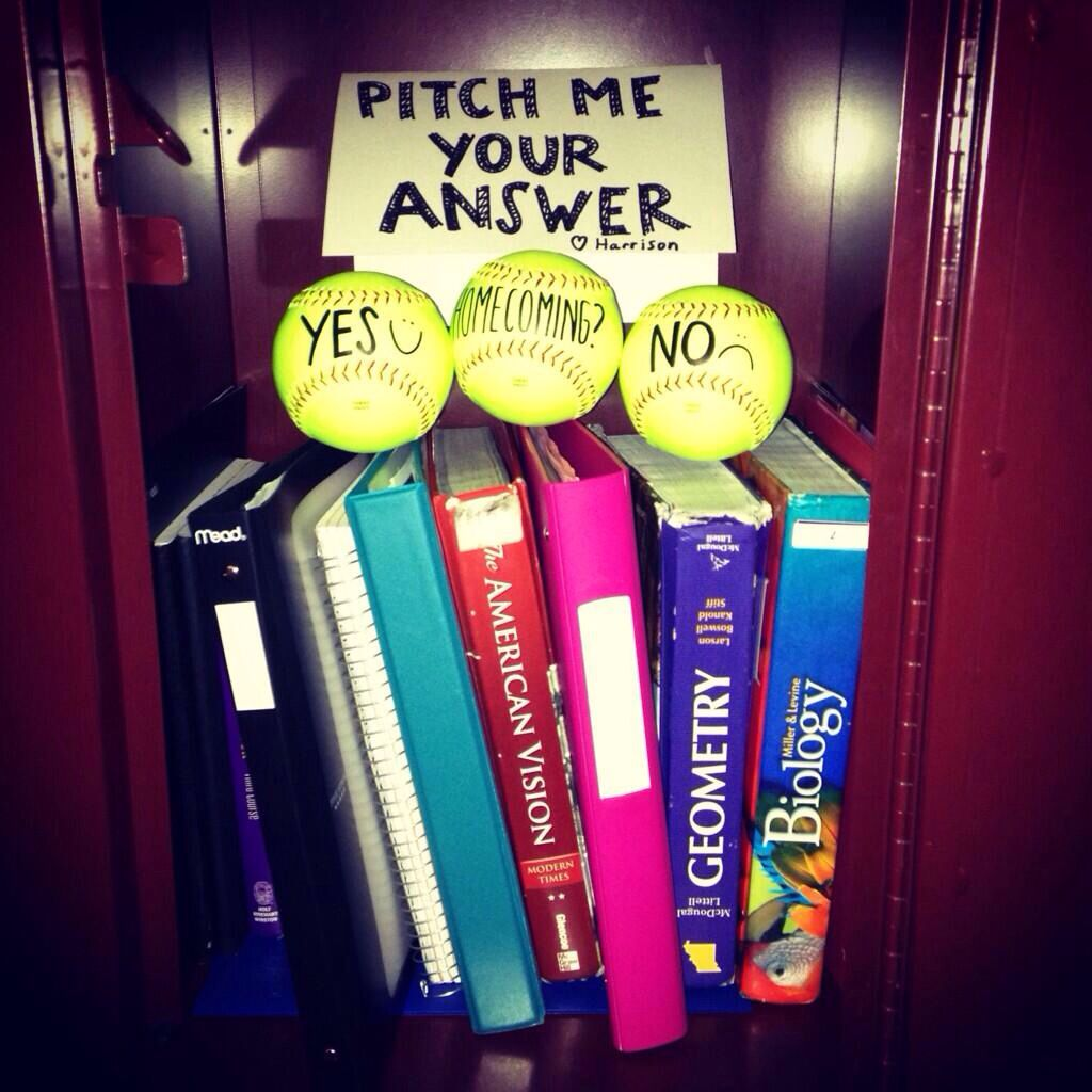 Cutest Way To Ask A Softball Pitcher To Homecoming, Hands Down I Already  Pinned
