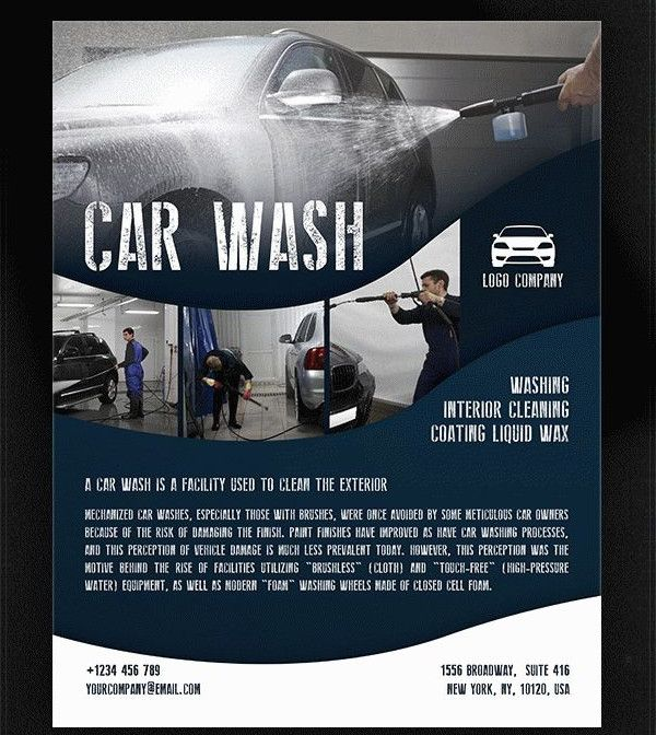 Car Wash Free Psd Flyer Template Negocio De Lavado De Autos Car