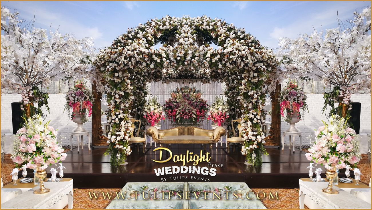 New wedding stage decoration  Tulips event  Best Pakistani wedding stage decoration flowering for