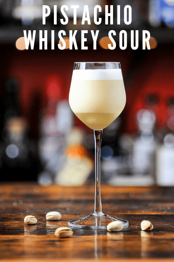 A twist on a classic drink, this Pistachio Whiskey Sour is full of flavor and is an easy recipe to