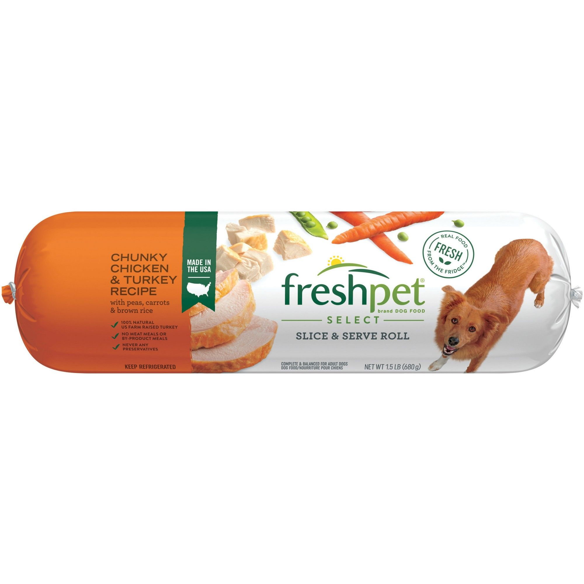 Freshpet Select Chunky Chicken Turkey With Vegetables Brown