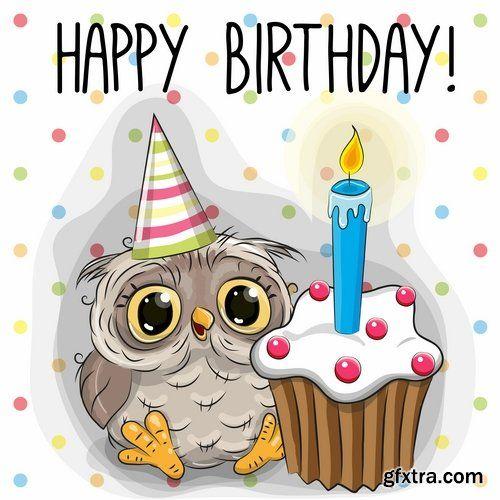 Happy Birthday Owl With Images Happy Birthday Owl Happy