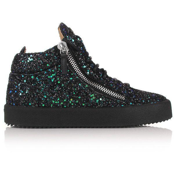 Black high top sneakers
