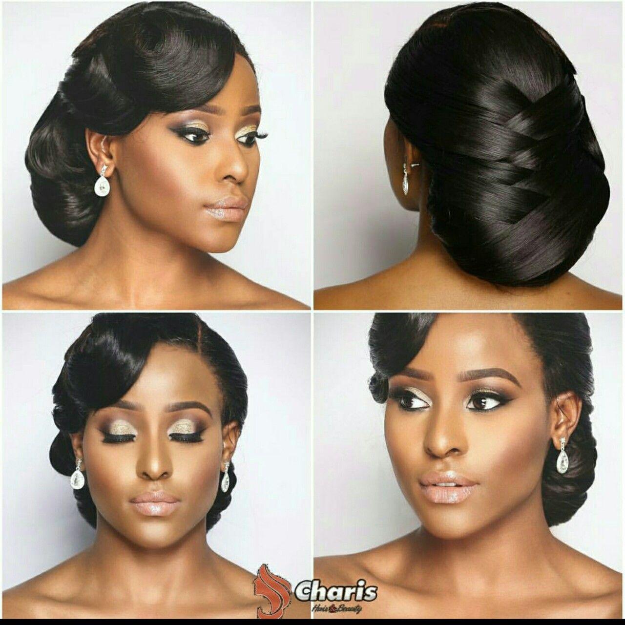 My Beautiful Cousin Looking So Gorgeous Modern Bridal Hairstyles Hairdo Wedding Black Wedding Hairstyles