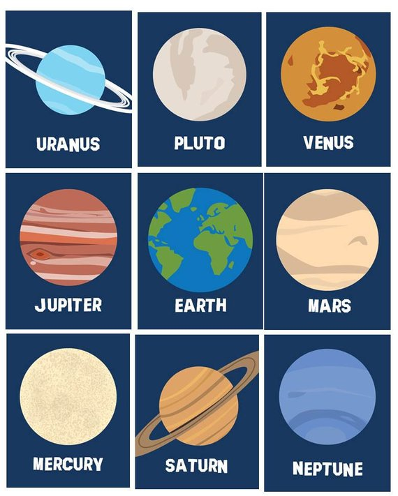 Art For Boys And S Planets Room Decor Solar System Wall A