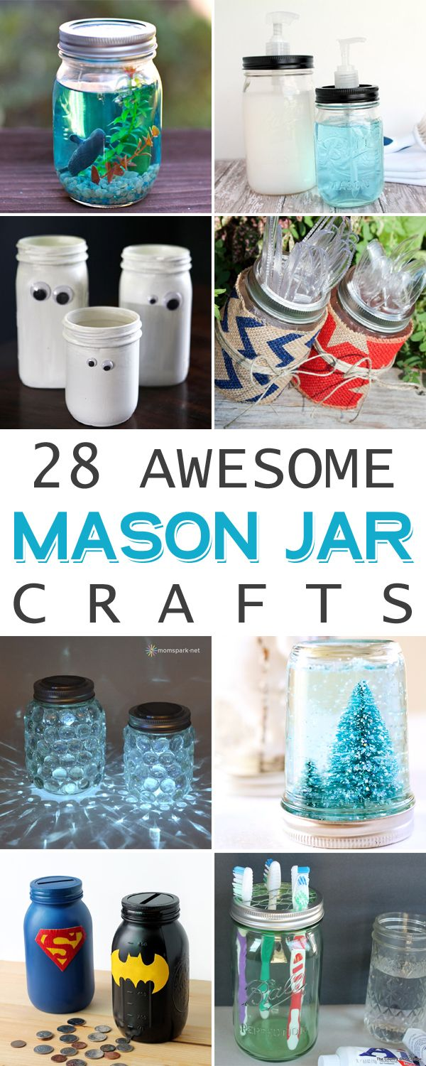 28 Awesome Mason Jar Crafts You Can